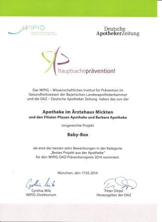Präventionspreis 2014